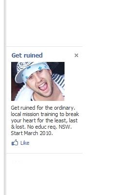 Facebook Ad: Get Ruined