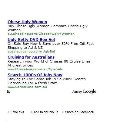 What Google Calls 'Contextual' Advertising
