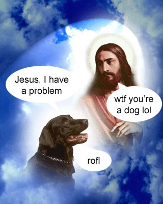Jesus And A Dog