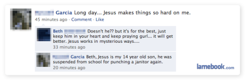 Lamebook: Jesus Makes Life Hard