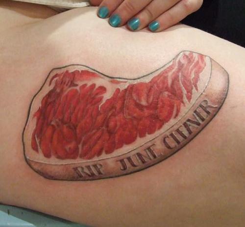 Meat Tattoo: June Cleaver Steak